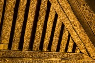 Gold inlay ceiling